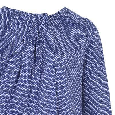 draping detail blouse blue